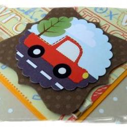 Orange Truck Happy Birthday Handmade Card